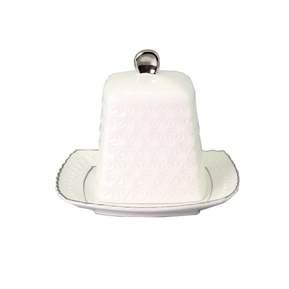 Nordic Style Butter Dish Dessert Cheese Box Stoneware Butter Tray for Kitchen/Hotel/Restaurant