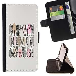 Momo Phone Case / Flip Funda de Cuero Case Cover - Mind Cita Vida Positiva - MOTOROLA MOTO X PLAY XT1562