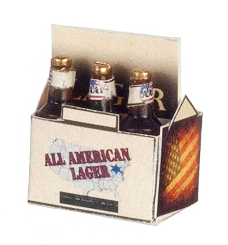 Dollhouse Miniature 1:12 All American Lager 6 Pack by Farrow - All Farrow And
