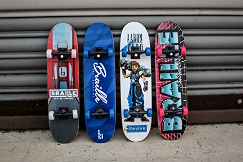 Braille Skateboarding Four Pack Aaron Kyro 11inch Professional Hand Board. Toy Skateboard Comes with Wheels, Trucks, Hardware and Tools. Real Griptape. by Braille Skateboarding (Image #6)