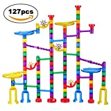 Kyпить Marble Run Set, Glonova 127 Pcs Marble Race Track for Kids with Glass Marbles Upgrade Top Quality Marble Set на Amazon.com