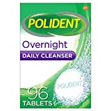Polident Overnight Daily Denture Cleaner Triple Mint Fresh 96 tabs