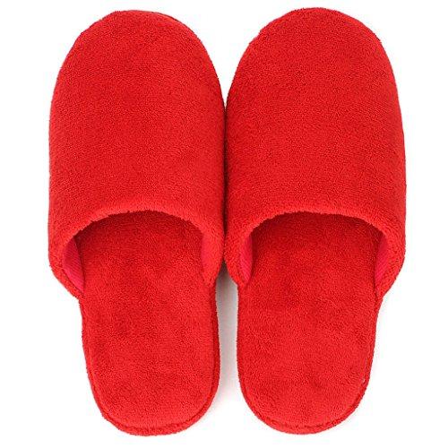 Zapatillas DWW de Algodón Peludo de Otoño e Invierno Interior Ultra Suave Zapatos de Mujer de Color Sólido Pattern 2
