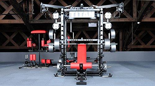 TITAN Fitness T1-X Multipresse Kraftstation Kraftmaschine mit Power-Rack