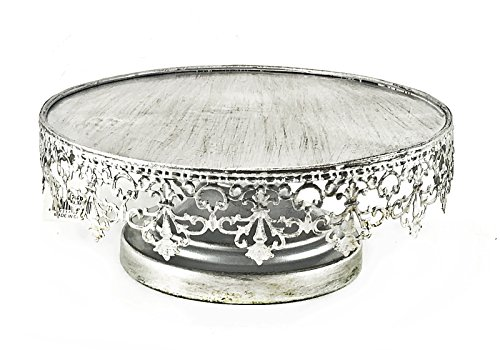 Bellaa 20751 Cake Stand Silver Metal 10 inch]()