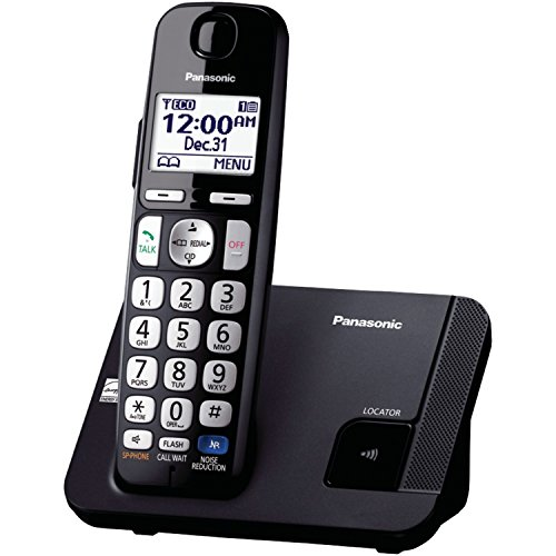 Panasonic Amplified Cordless Phone KX-TGE210B DECT 6.0 with Enhanced Noise Reduction - 1 Handset -