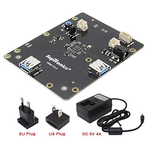 Geekworm X820 V3.0 2.5 inch SATA HDD/SSD Storage Expansion Board w/USB 3.0 Interface + DC 5V 4A Power Adapter w/EU/US Plug Kit for Raspberry Pi 3 Model B+ / 3B / 2B / B+ by Geekworm (Image #7)