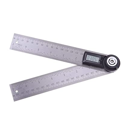Amzvaso Digital Ruler Template Protractor Measures All Angles