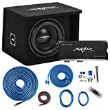 Skar Audio Single 10' Complete 1,200 Watt SDR Series Subwoofer Bass Package - Includes Loaded Enclosure with Amplifier