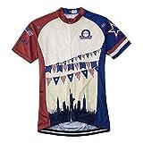 BIYINGEE Men's Cycling Jersey Short Sleeve Breathable Retro USA Size XXXL