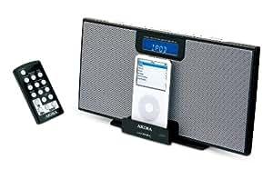 Akira IPC-B32 - Radio despertador con base de conexión para iPod (con sintonizador de FM y AM) (importado)