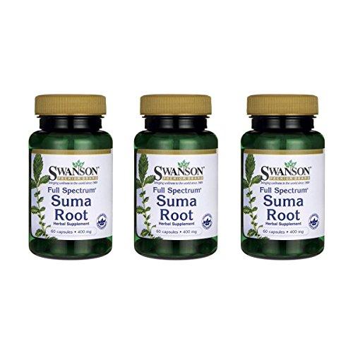Swanson Full Spectrum Suma Root 400 mg 60 Caps 3 Pack