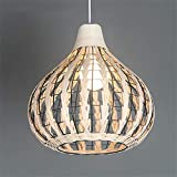 "13.8"" Natural Bamboo Chandelier Weave Wicker"