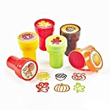Fun Express Fall Ink Stampers   2-Pack (48 Count)   Great for Harvest, Thanksgiving, and Autumn-Themed Party Favors   Children Age 3+