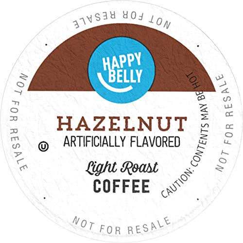 Amazon Brand - 100 Ct. Happy Belly Light Roast Coffee Pods, Hazelnut Flavored, Compatible with Keurig 2.0 K-Cup Brewers (Best K Cup Coffee Brands)