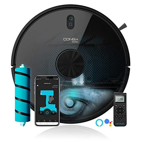 Cecotec Robot aspirador y fregasuelos Conga 6090 Ultra, Láser, Tecnología ciclónica, Aspira, Friega, Barre y Pasa la…