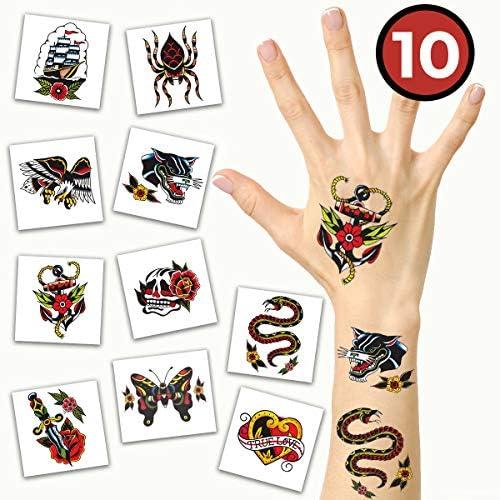 Tatuajes temporales American Traditional Pack | Seguro para la ...