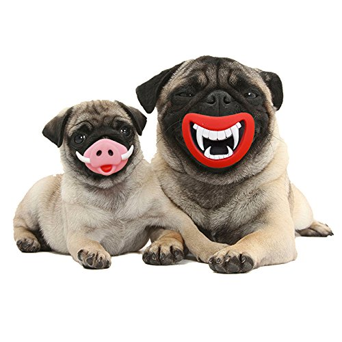 Latex Dog Costume (Elite Pet Hilarious Rubber Dog Squeak Toys Novelty Festival Dog Costume Gift, Pig Nose)