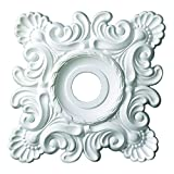 Designer's Edge Millwork DEM-537 18 x 18 in. Shell And French Twist Ceiling Medallion