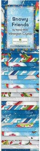 Wilmington Prints Snowy Friends by Nancy Rink 24 Fabric Strips 2.5 by 44 Inches