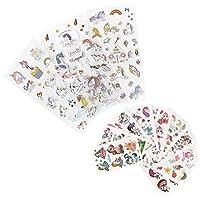 171 Cute Mini Unicorn themed Tattoos and Sticker, Unicorn Stickers, Unicorn tattoos, perfect for Unicorn themed parties and gifts, great unicorn favor