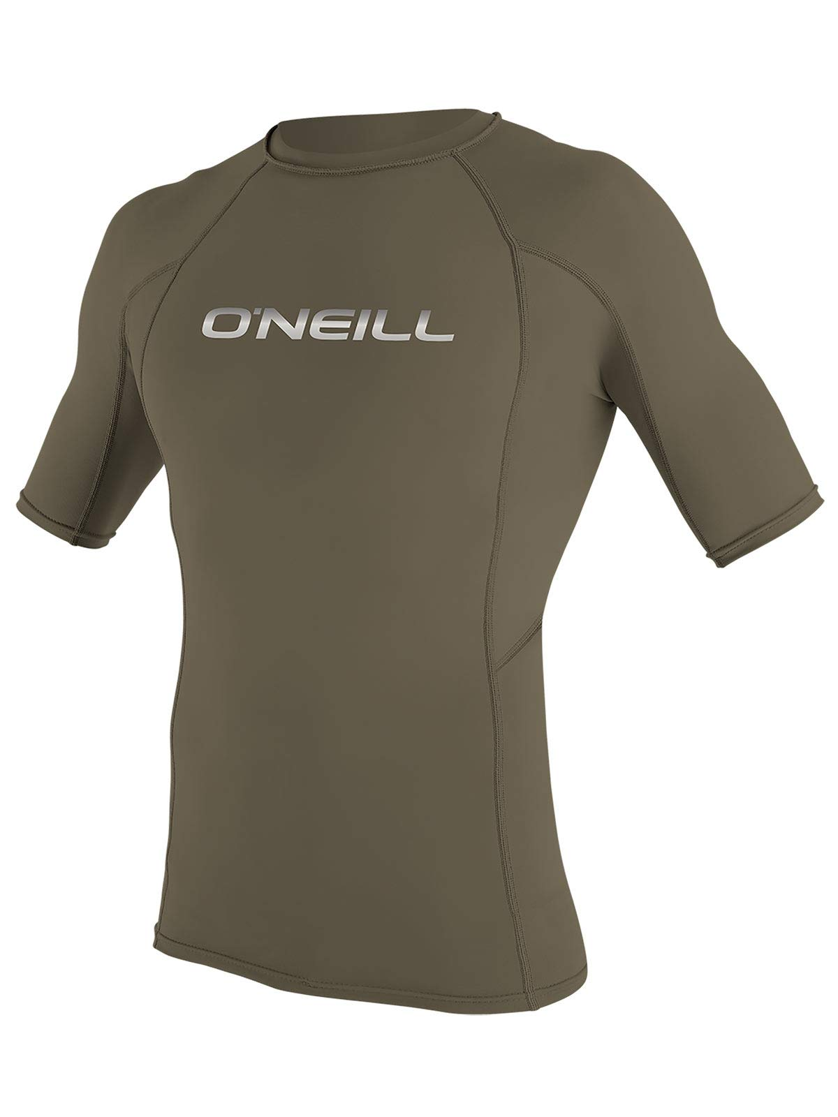O'Neill Men's Basic Skins Short Sleeve Rashguard M Khaki (3341IB)