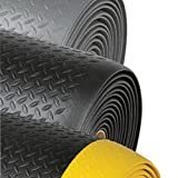 Superior Manufacturing Notrax 2' X 60' Black And Yellow 1/2'' Thick Dyna-Shield PVC Sponge Diamond Sof-Tred Dry Area Safety/Anti-Fatigue Floor Mat