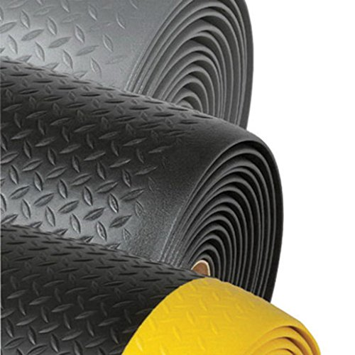 Superior Manufacturing Notrax 2' X 60' Black And Yellow 1/2'' Thick Dyna-Shield PVC Sponge Diamond Sof-Tred Dry Area Safety/Anti-Fatigue Floor Mat by Superior Manufacturing