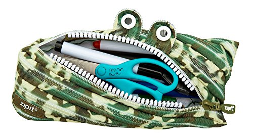 ZIPIT Camo Monster Pencil Case, Green