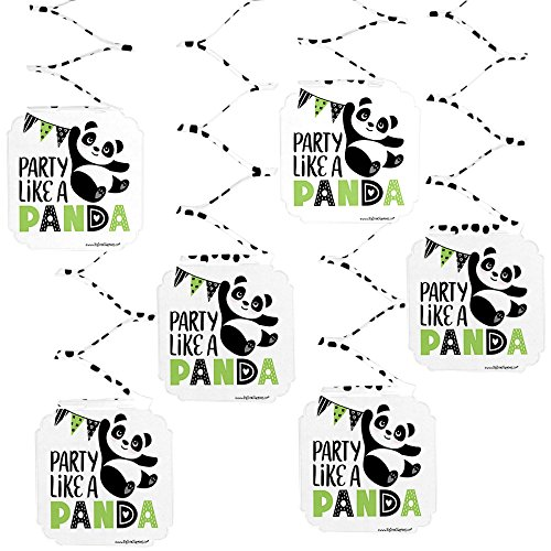 Big Dot of Happiness Party Like a Panda Bear - Baby Shower or Birthday Party Hanging Decorations - 6 Count for $<!--$9.99-->