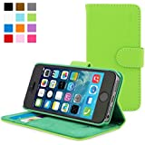 Snugg Leather Wallet Case for Apple iPhone 5/5s - Green