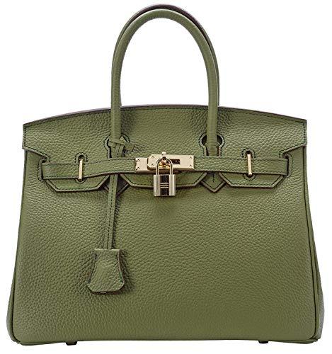 - Women's Handbags Ladies Genuine Leather Handle Shoulder Handbags Strap Organizer Crossbody Handbags with Gold Hardware