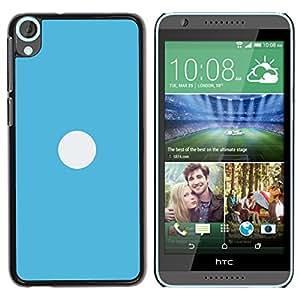 A-type Arte & diseño plástico duro Fundas Cover Cubre Hard Case Cover para HTC Desire 820 (Blanco En Azul)