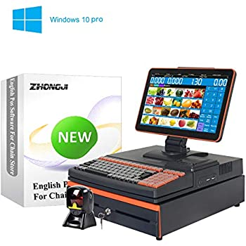 Amazon com: ZHONGJI All in One Touch Screen POS System Cash