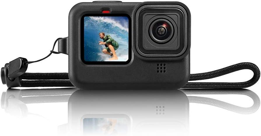 Carcasa protectora de silicona para GoPro Hero 9 Negro