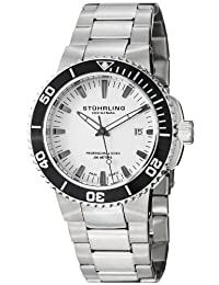 Stuhrling Original Men's 749.01 Aquadiver Regatta Corvet Swiss Quartz Professional Diver Stainless Steel Bracelet Watch