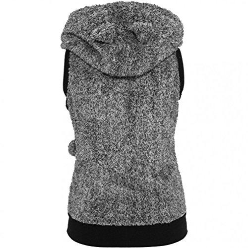 blanc Manches Sans Vest Femme Teddy Urban Noir Ladies Pull Classics Melange xqYA04vwf1