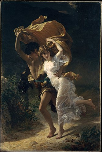 Pierre-Auguste Cot – The Storm, Size 24×36 inch, Canvas art print wall d cor