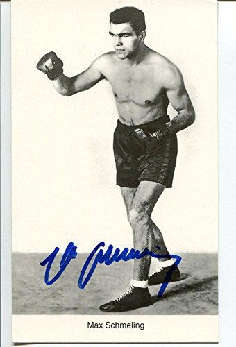 98bb818407f Max Schmeling Autographed Photo - Heavyweight Champ HOF - Autographed Boxing  Photos at Amazon s Sports Collectibles Store
