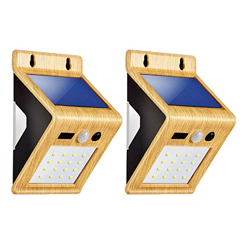 Outdoor Solar Lights,LivEditor LED Colorful Backlight Motion Sensor Solar Lights with USB Charging Port,for Outdoor Diveway Patio Garden Path Yard Deck