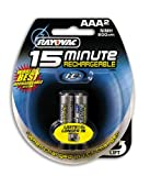 : Rayovac  I-C3 15 Minute NiMH AAA Size Carded 2 Pack