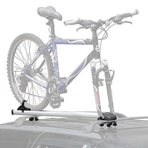 Rage Powersports BC-219 Aluminum Fork-Mount Car Roof Upright Bicycle Rack