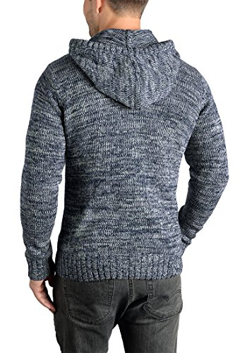 Capuche Insignia 100 Homme Blue Pour 1991 Maille Coton À Solid Pull Pierre Pull over En Grosse Tricot UwUYFB6q