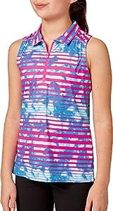 Slazenger Girls' Fashion Stripe Sleeveless Golf Polo