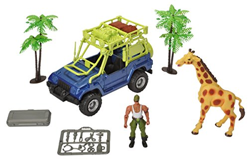 Price comparison product image Wild Republic Giraffe, Vehicle, Trees, Tools, Eco -Team Member, Rescue case, Gifts Kids, 13 Piece Playset