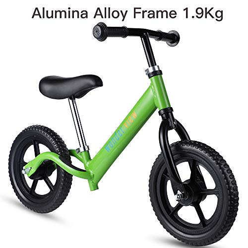 WonderView Balance Bike, 12 Kids Balance Bike Lightweight Balance Bike Outdoor Toys for Boys & Girls