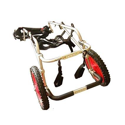 Silla de ruedas para mascotas, Scooter de perro grande para el campo de entrenamiento de rehabilitación para la reparación de la pierna trasera, ...