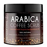 O Naturals Exfoliating Organic Coffee Arabica, Dead Sea Salt Scrub. For Face Body & Legs. 250ml