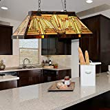 Capulina Tiffany Ceiling Pendant Lamp 3 Light