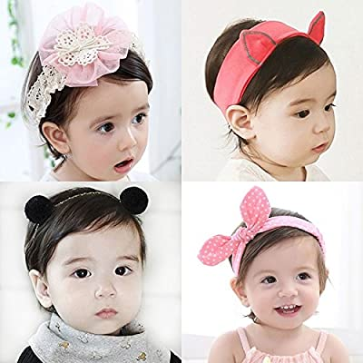 South Korean female baby infant children's hair band cute newborn princess tiara headband bow spring and summer accessories for women girl lady